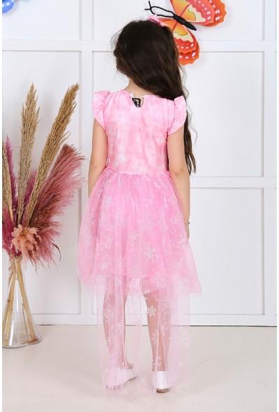 Baby Kız Çocuk Kuyruklu Tüllü Elbise Pembe 05703-
