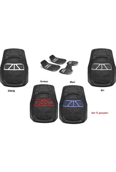 Vavka 2012 Model Fiat Punto Için 4d Havuzlu Tip Universal Paspas - Kırmızı Kromlu