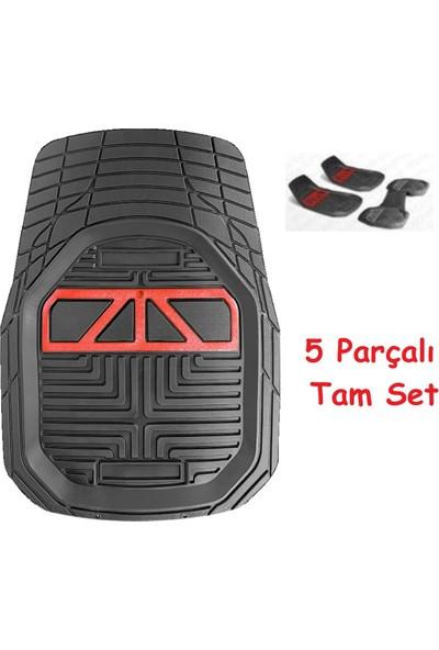 Vavka 2021 Model Volkswagen T-Roc Için 4d Havuzlu Tip Universal Paspas - Kırmızı Kromlu