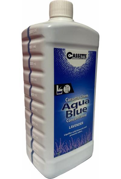 Cassette Chemical Karavan - Tekne Tuvalet Kimyasalı - Cassette Chem Aqua Blue Concentrated Kasetli ve Portatif Tuvalet Atık Parçalayıcı Koku Giderici Lavanta