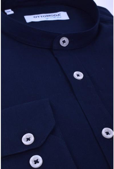 Ottomoda Erkek Oxford Düz Uzun Kollu Gömlek
