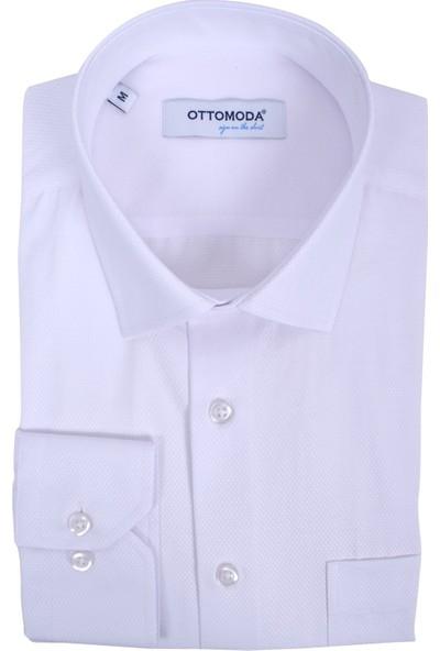 Ottomoda Erkek Armür Uzun Kollu Cepli Gömlek