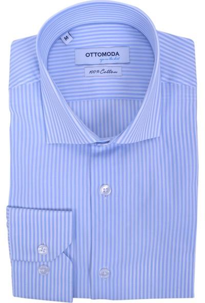 Ottomoda Erkek Çizgili Uzun Kollu Gömlek