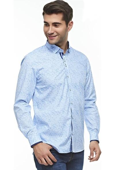 Ottomoda Erkek Desenli Uzun Kollu Gömlek
