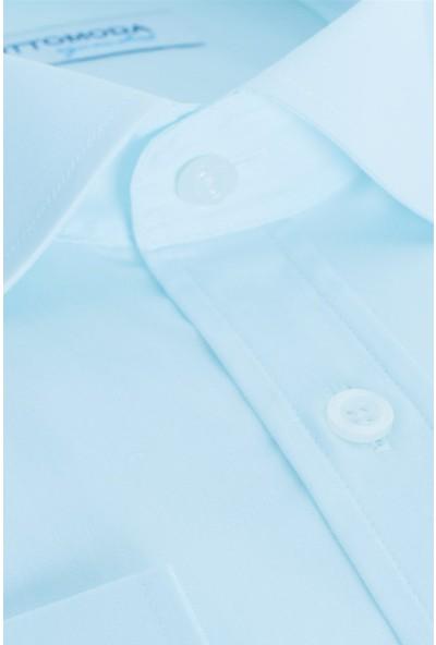 Ottomoda Erkek Düz Uzun Kollu Gömlek