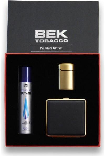 Bek Tobacco Easy Torch Metal Çakmak Tabaka Seti Altın Renk