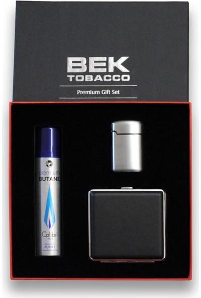 Bek Tobacco Easy Torch Metal Çakmak Tabaka Seti Gri Renk