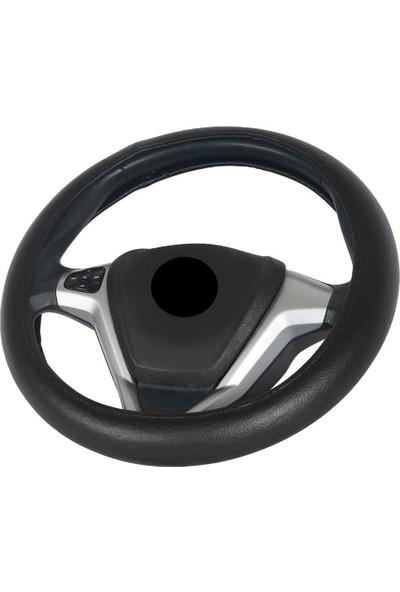 Vavka Nissan Micra Için Oto Direksiyon Kılıfı - Siyah, Geçmeli Tip