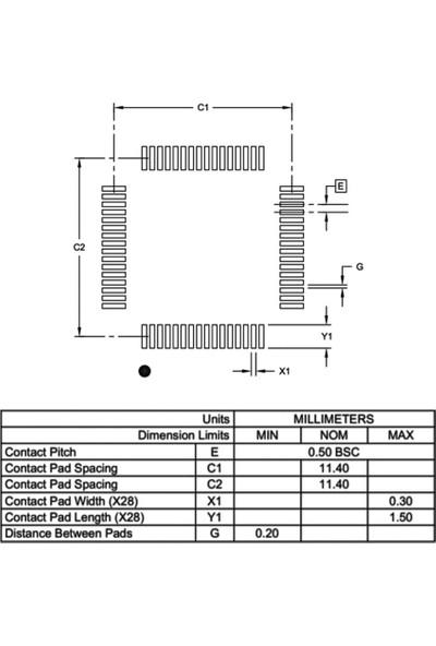 Microchip PIC16F1946-I/PT 8-Bit 32MHZ Smd Mikrodenetleyici TQFP64