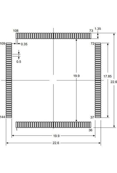 STM STM32F205ZCT6 32 Bit 120MHZ Mikrodenetleyici LQFP144