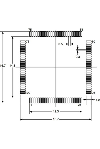 STM STM32F103VCT6TR Smd 32-Bit 72MHZ Mikrodenetleyici LQFP-100