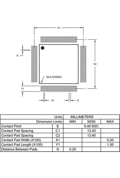 Microchip PIC24FJ256GB210 I/pt Smd 16-Bit 32MHZ Mikrodenetleyici TQFP-100