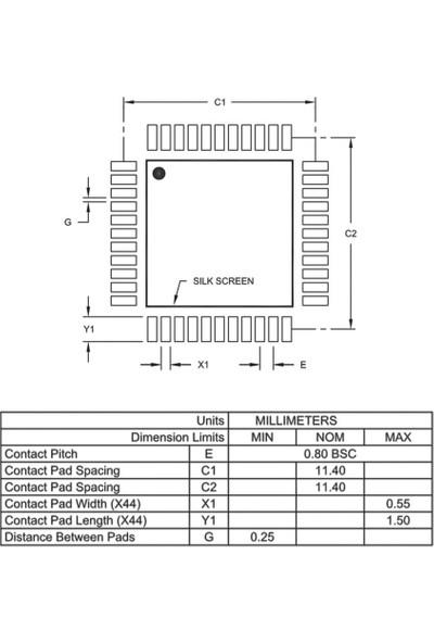 Microchip PIC18F45K20-I/PT Smd 8-Bit 64MHZ Mikrodenetleyici Tqfp-44