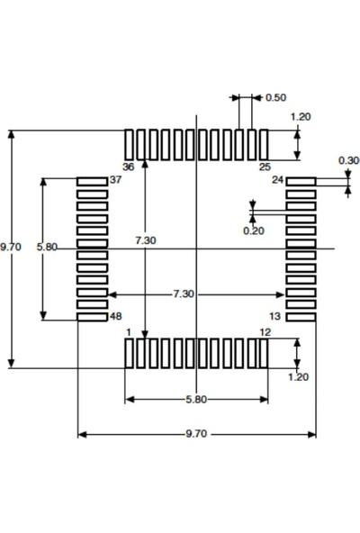 STM STM8L052C6T6 8-Bit 16MHZ Mikrodenetleyici Lqfp-48