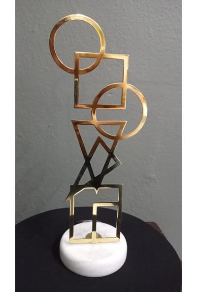 Arın Home Mermer Ayak Metal Dekoratif Obje