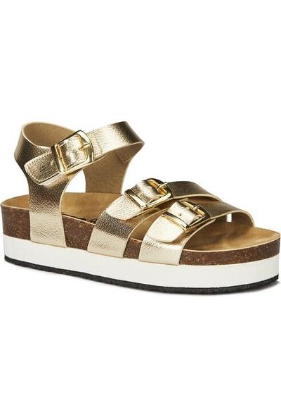 Vicco 321.21Y.148 Garcia Anatomik Kız Çocuk Altın Sandalet