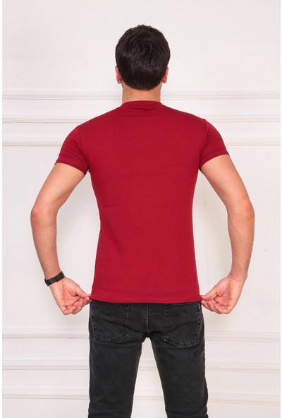 Ase Göğsü Şeritli Tshirt
