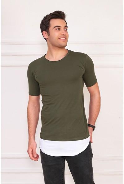 Ase Eteği Parçalı Tshirt