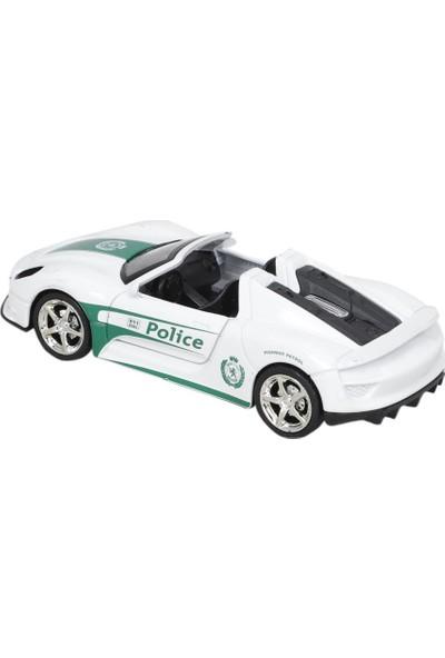 Birlik Oyuncak Metal Çekbırak Işıklı Spor Polis Arabaları Minitro FY5038P-12D