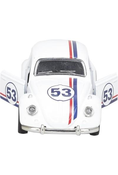 Birlik Metal Işıklı Çekbırak Araba Vw Klasik Tosbağa 1:36 Minitro FY5068AP-12D