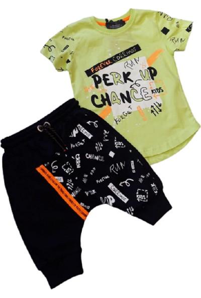 Aras Erkek Çocuk Baskılı Şalvar(Harem Pantolon) 2'li Takım