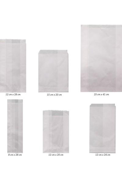 Anadolu Kağıtçılık Çatal - Kaşıklık - Dürümlük 40 gr Yağlı Kese Kağıdı Ithal 8cm x 28CM 10 kg 2500'LÜ