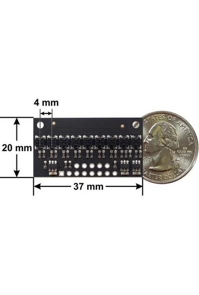 Pololu QTR-HD-09RC 9 Kanal Dijital Kızılötesi Sensör Modülü - 4mm