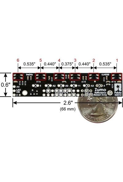 Pololu Zumo Uyumlu Çizgi Sensörü