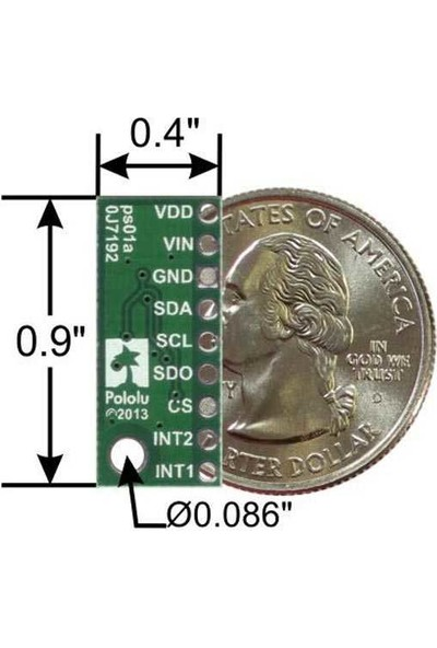 Pololu LPS331AP Voltaj Regülatörlü Barometre / Altimetre Sensör Kartı