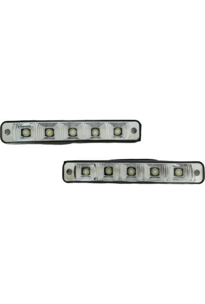 Tuning Port Gündüz Farı Üniversal 5 LED 2'li 3W Beyaz 19X3 cm