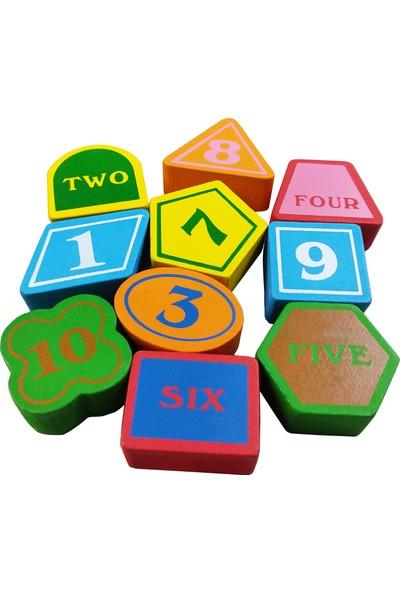 Puzzle Ahşap Bul Tak Puzzle Renk ve Şekil Yerleştirme Oyunu