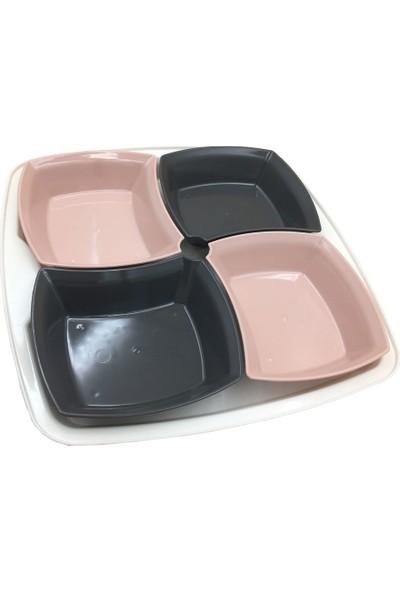 Bager 4 Lü Plastik Çift Renk Cok Amaclı Cerezlik Mezelik