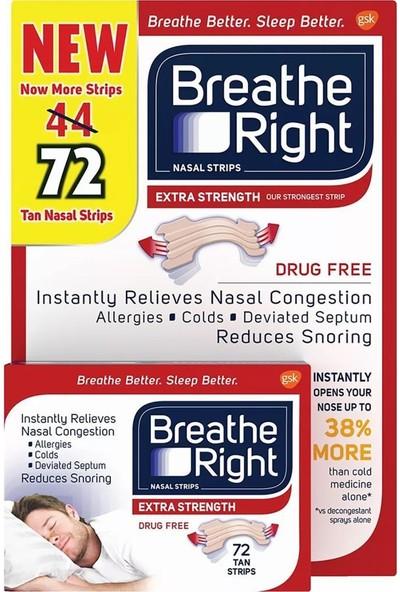 Breathe Right Extra Strength Burun Bandı Ten Rengi 72 Adet