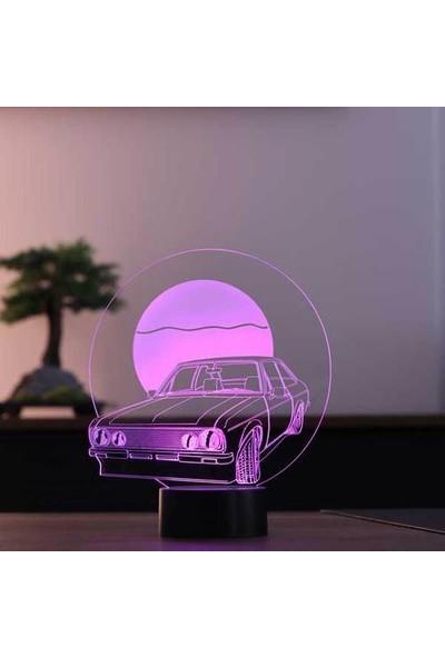 By-Lamp 3 Boyutlu Retro Araba LED Masa Lambası