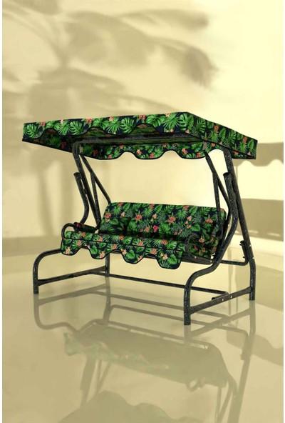 İskele Forest 3 Kişilik Bahçe Salıncağı Balkon Teras Salıncak Gümüş