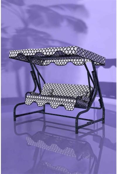 İskele Night 3 Kişilik Bahçe Salıncağı Balkon Teras Salıncak Gümüş