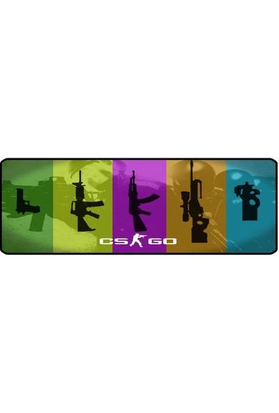 Gamingpadci Cs Go -1- 70X30 cm Speed Kaymaz Taban Dikişli Oyuncu Mouse Pad