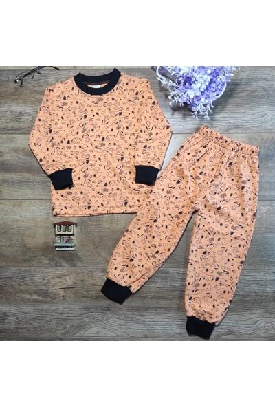 Hece Bebe Sevimli Köpek Baskılı Penye Pijama Takımı 4 Yaş