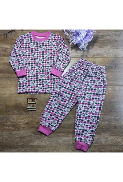 Hece Bebe Sevimli Fare Baskılı Penye Pijama Takımı 5 Yaş