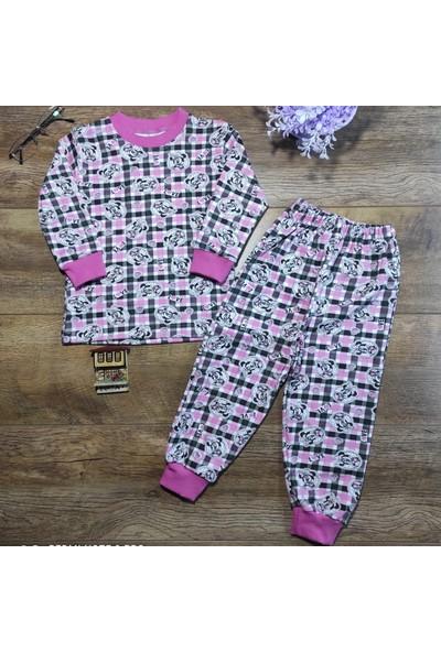 Hece Bebe Sevimli Fare Baskılı Penye Pijama Takımı4 Yaş