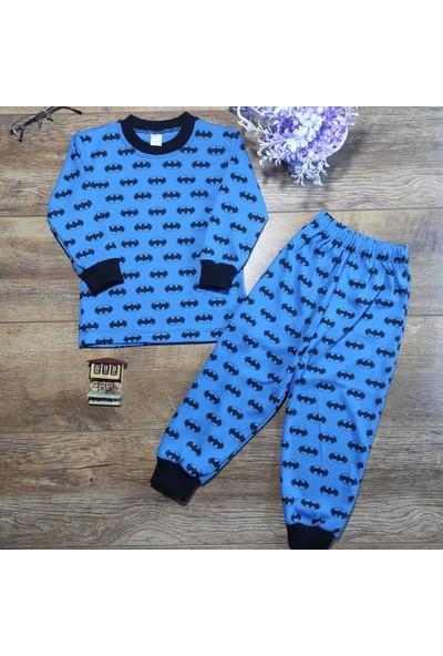 Hece Bebe Süper Yarasa Penye Pijama Takımı 4 Yaş