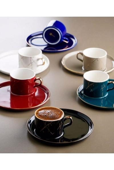 Acar Plus 6'lı Porselen Kahve Fincan Takımı