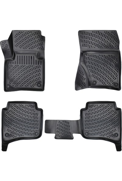 AccessoryPart Volkswagen Touareg 2010 - 2017 3D Havuzlu Paspas Siyah