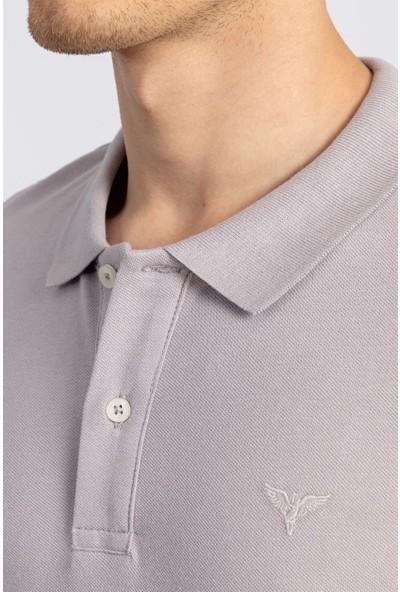 Tudors Slim Fit Polo Yaka Gri Erkek T-Shirt