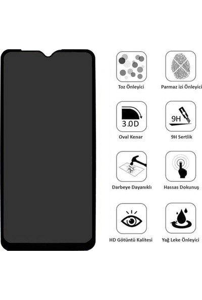 Semers Xiaomi Redmi Note 10 Nano Hayalet Privacy Ekran Koruyucu