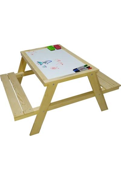 ABC Çocuk Etkinlik Masası Oyun Masası Ders ve Aktivite Masası Yaz Sil Yüzey