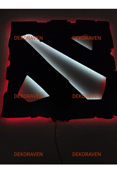 Dekoraven Dota 2 LED Işıklı Tablo