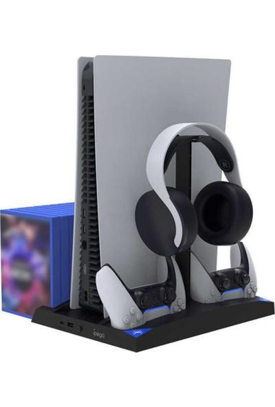 RedClick Sony Playstation 5 Oyun Konsolu Dualsense Oyun Kolu & Kulaklık Fanlı Stand Şarj Istasyonu
