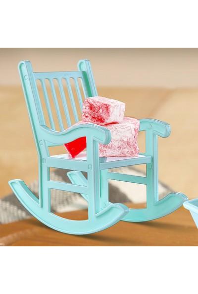 Fer Home Şekerlik Lokumluk Dekoratif Servis Sunum 2'li Sallanan Sandalye Seti Ikramlık Çerezlik Kase