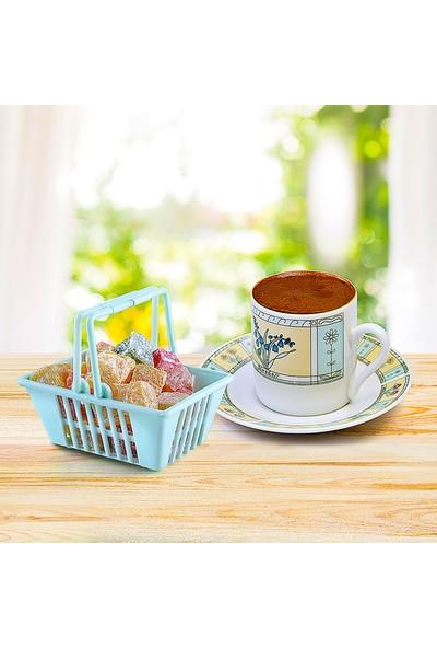 Fer Home Şekerlik Lokumluk Sepet 3'lü Dekoratif Servis Sunum Seti Çikolatalık Ikramlık Çerezlik Kasesi